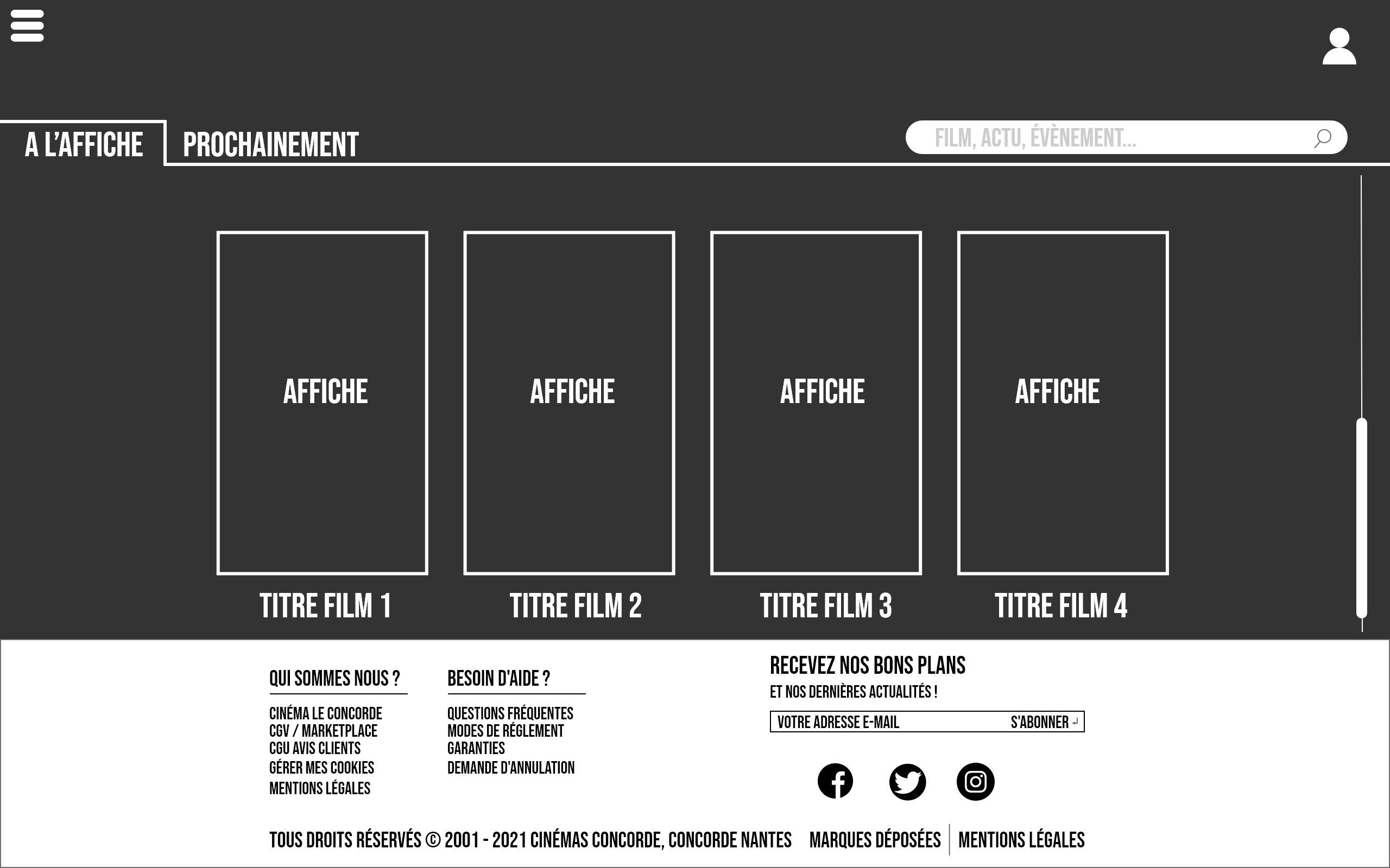 Prototypage du bas de page